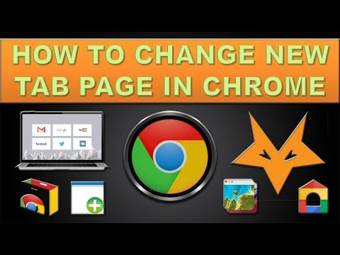 How to change new tab page in chrome?
