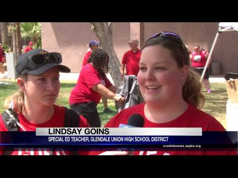 Red for Ed supporters rally for increased education funding | Cronkite News