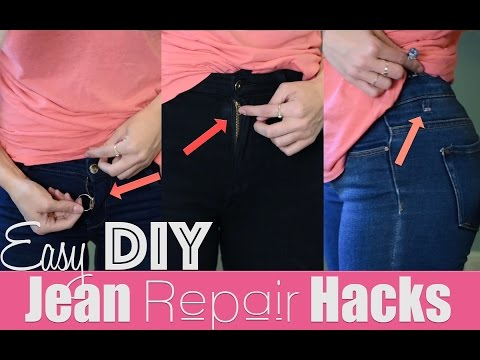 Easy DIY Jean Repair Hacks | How To Revive Your Jeans!