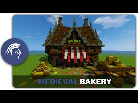 Minecraft Building Tutorial : How to build a Medieval Bakery