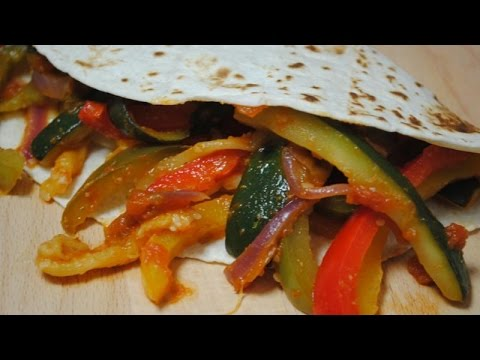 VEGETABLE FAJITAS - Student Recipe