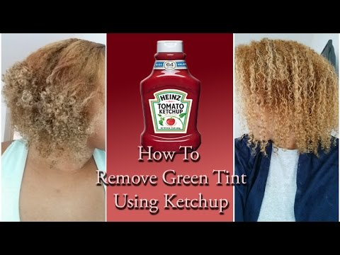 ♣How To Remove Green Tint Using Ketchup (NATURAL CURLY HAIR)♣