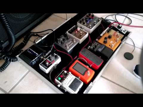 Acoustic guitar pedal board