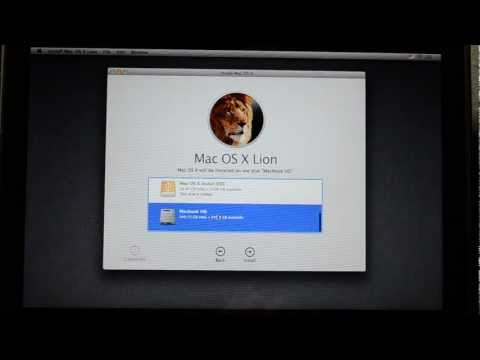 How to mount OS X Lion to a flash drive/hard drive and Clean Install Mac OS X Lion