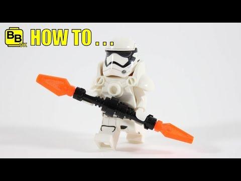 HOW TO MAKE A LEGO STAR WARS FIRST ORDER JUGGERNAUT MINIFIGURE!