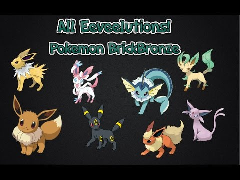 Pokemon Brick Bronze - How To Evolve The Eeveelutions