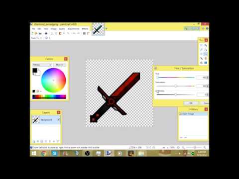 How to change the color of almost anything in paint net