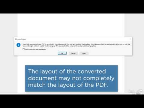 Edit PDF Content in Word