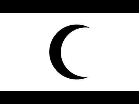 Illustrator Tutorial - How to Make a Crescent Shape