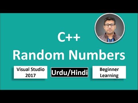 24. C++ in Urdu/Hindi Random Number Generator Beginners Tutorial vs 2017