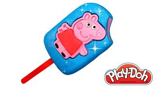 Peppa Pig Play Doh Ice Cream Popsicle How to Make Peppa Pig Ice Cream Play Doh Food Videos for Kids
