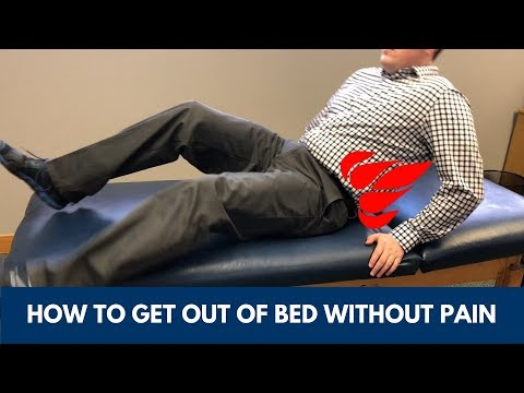 How to Get out of Bed with Back Pain and Sciatica