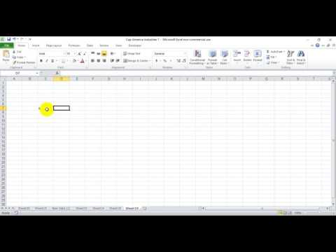 How to make the sigma symbol in excel