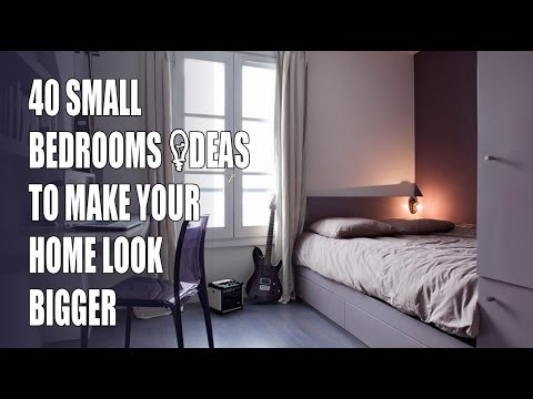 40 Small Bedroom Design Ideas To Make Your Home Look Bigger