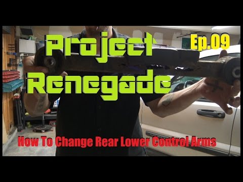 How To Replace Rear Lower Control Arms Jeep Liberty/Dodge Nitro. Project Renegade Ep.09
