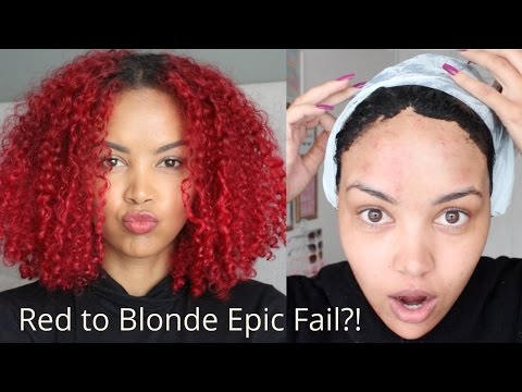 Red to Blonde Epic Fail?! | Hair Colour Remover WITHOUT BLEACH | Color B4 | SA Beauty Blogger