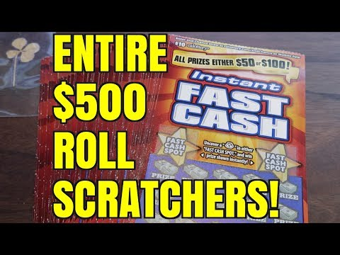 ONLY $50 AND $100 PRIZES!!! Instant Fast Cash $10 California Lottery Scratcher