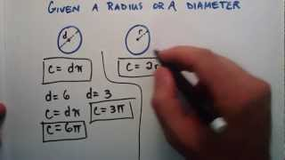 How To Find The Circumference Distance Around The Outside Of A Circle