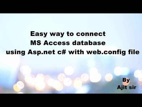 How to connect MS Access Database in Asp .net c# with web config file by ajit sir