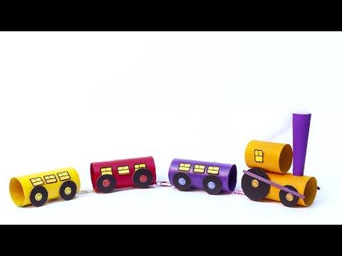 Tuvalet kağıdı rulosundan TREN / Let's make a TRAIN with toilet paper rolls