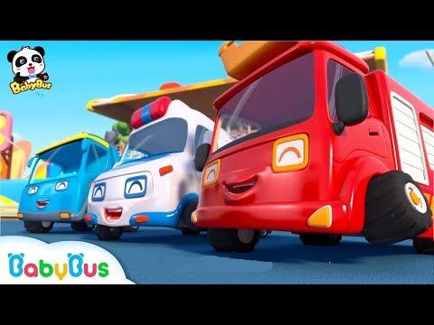 Super Car Racing Team   Baby Panda's Dream   Car Story for Kid   Fire Truck, Monster Truck   BabyBus