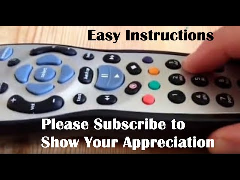 Instructions & Demo on How To Program Set Up The Sky Remote Control To Your Television Samsung Etc