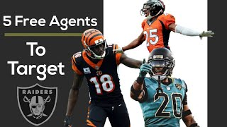 5 Players the Raiders MUST Sign this Off-Season