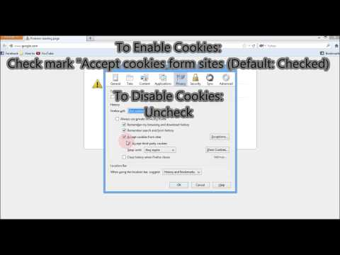 How to Enable and Disable Cookies in Firefox