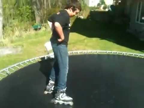 Roller blade front flip
