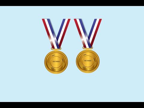 Golden medallion in illustrator cc