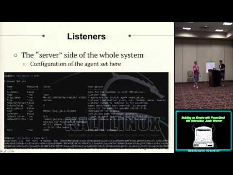 BG08 Building an Empire with PowerShell Will Schroeder Justin Warner