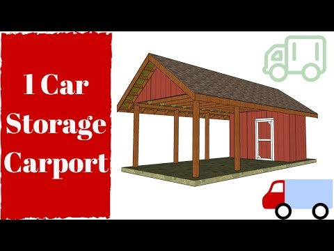 Carport with Storage Plans Free