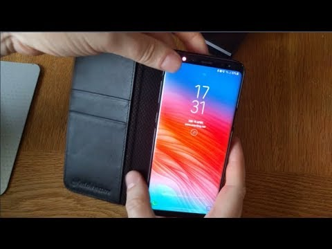 SHIELDON Leather Wallet Case for the Samsung Galaxy S8+ (also available for Galaxy S9 / S9+)