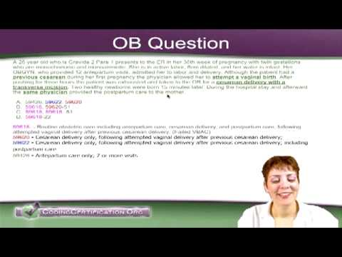 OB CPT Code Question — VBAC and Cesarean Delivery