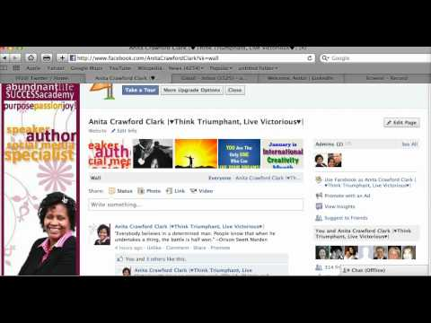 Video Tutorial of New Layout of Facebook Fan Pages