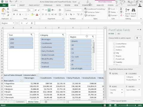 Excel 2013 Add and Align Slicers in PowerPivot