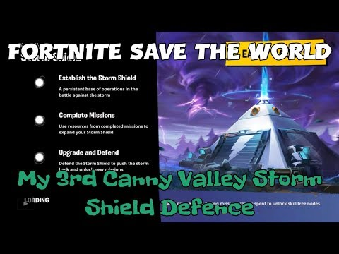 21) Fortnite Save The World My 3rd Canny Valley Storm Shield Defence.