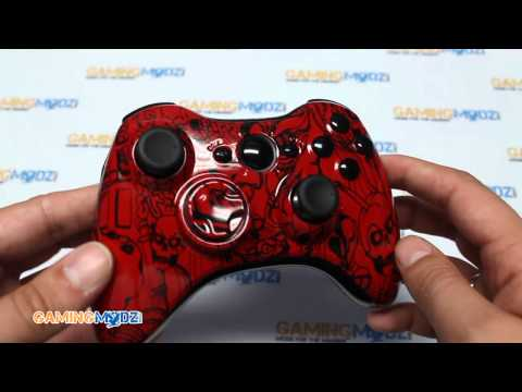 Red Zombie Brains Xbox 360 Modded Controller