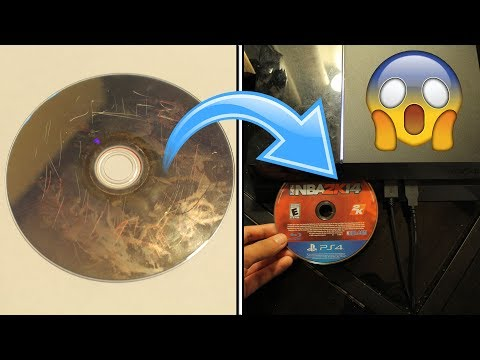 WHAT HAPPENS WHEN YOU PUT A DAMAGED PS4 GAME DISC IN A PS4?