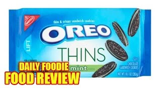 Oreo Thins Mint Review - Creme Cookies Nabisco