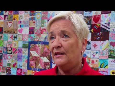 Councillor Cate McDonald talks about The Women's Quilt