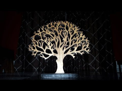 Scroll Sawed Wooden Tree
