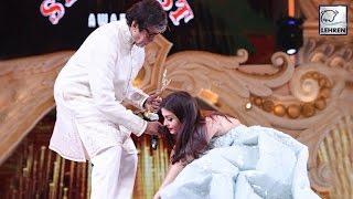Aishwarya Rai Touches Amitabh Bachchan