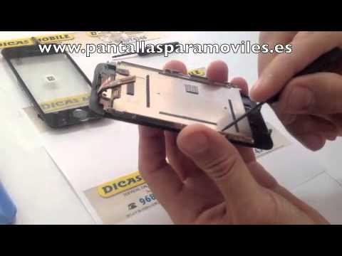 COMO CAMBIAR PANTALLA TACTIL IPHONE 3G 3GS 3 REEMPLAZAR TOUCH SCREEN