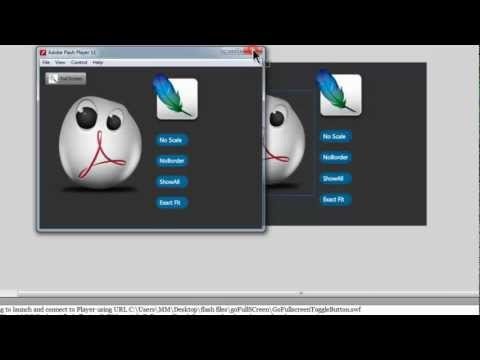 Flash Tutorial -  Creating a Full Screen Toggle Button for your Swf file
