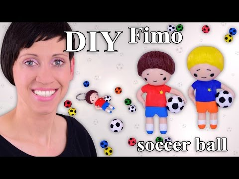 FIMO Fußball: Polymer Clay Soccer Ball (Chibi) - Tutorial [HD/DE] (EN-Sub)