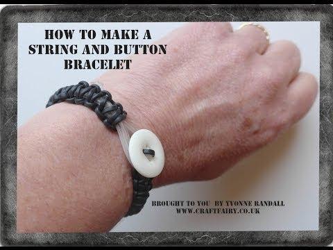 Plastic string bracelet tutorial