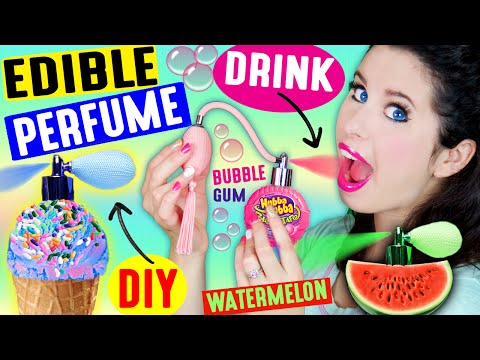 DIY EDIBLE PERFUME | Spray In Your Mouth | Drink Fragrance | Lickable & Kissable Body Splash!