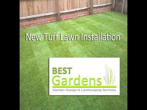 New Turf lawn Installation
