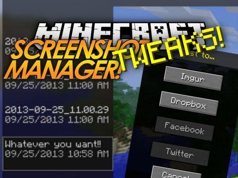 Minecraft Tweaks: Screenshot Manager & Server Picker!